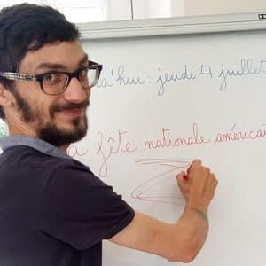 Vincent Drains, French teacher near Lyon, France