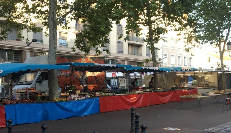 Monplaisir market in Lyon
