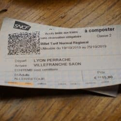 Normal SNCF ticket from Lyon Perrache