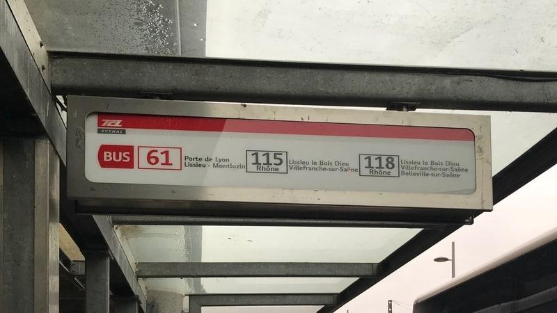 Rhône Bus 118 stop at Gare de Vaise