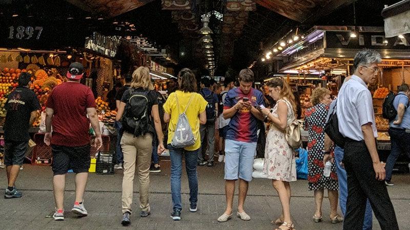 Barcelona's food market