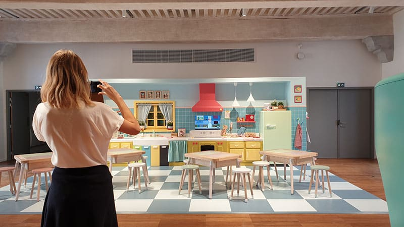 Lyon City of gastronomy kids room