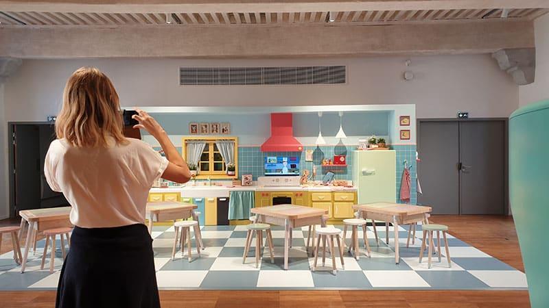 Lyon City of gastronomy kids room