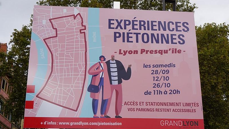 Lyon center pedestrian experiment