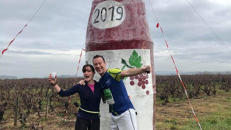 Beaujolais marathon 2019 arrival
