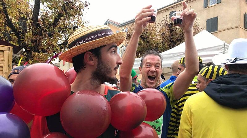 Beaujolais marathon drinking
