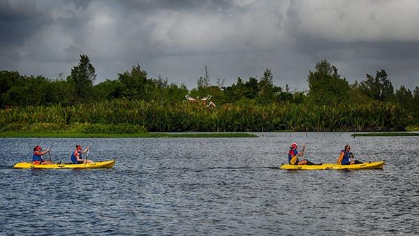 Raid Amazones canoeing