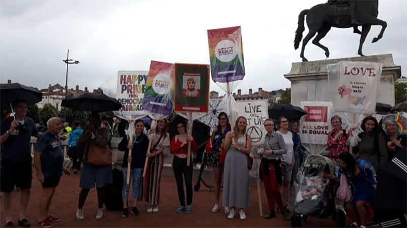 Lyon Democrats abroad gay pride parade