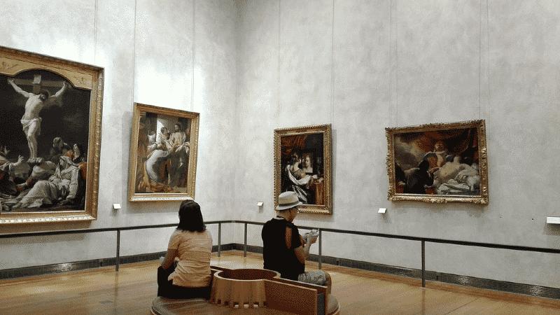 Inside the Fine Arts Museum in Lyon