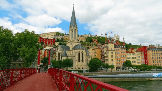 view from the passerelle Saint-Vincent de Lyon- Flickr