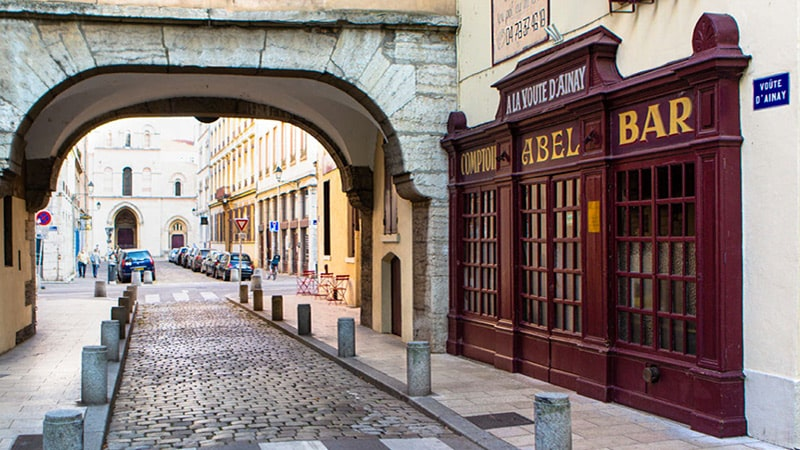 Abel, famous bouchon restaurant in Lyon, France