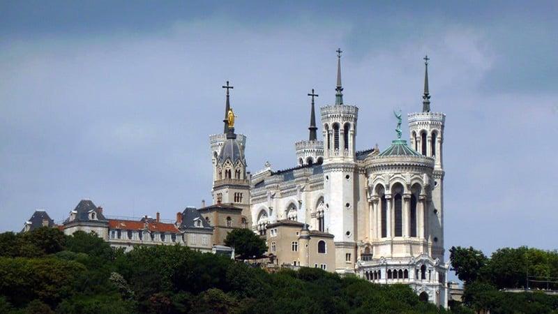 The Basilica Notre Dame de Fourviere in Lyon, France