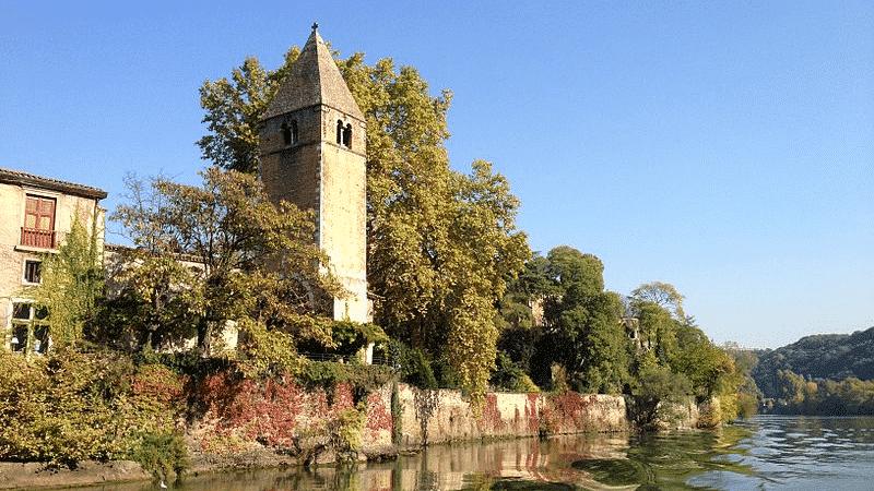 Isle Barbe in Lyon, France