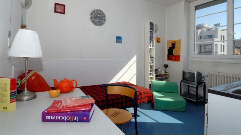 A student studio in Lyon, France